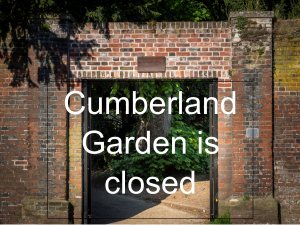 Cumberland Garden is currently closed