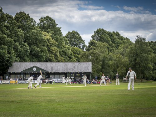 Photo of Redbourn Cricket Club with a match in progress